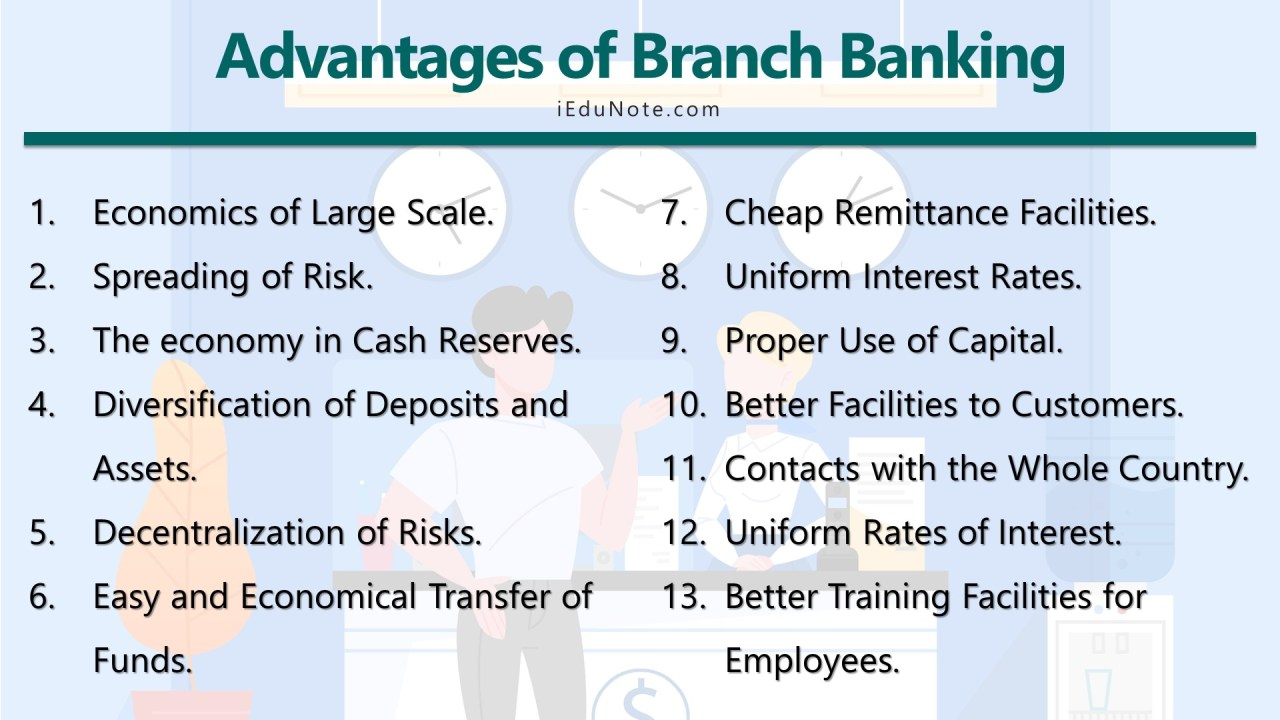 Advantages of Branch Banking