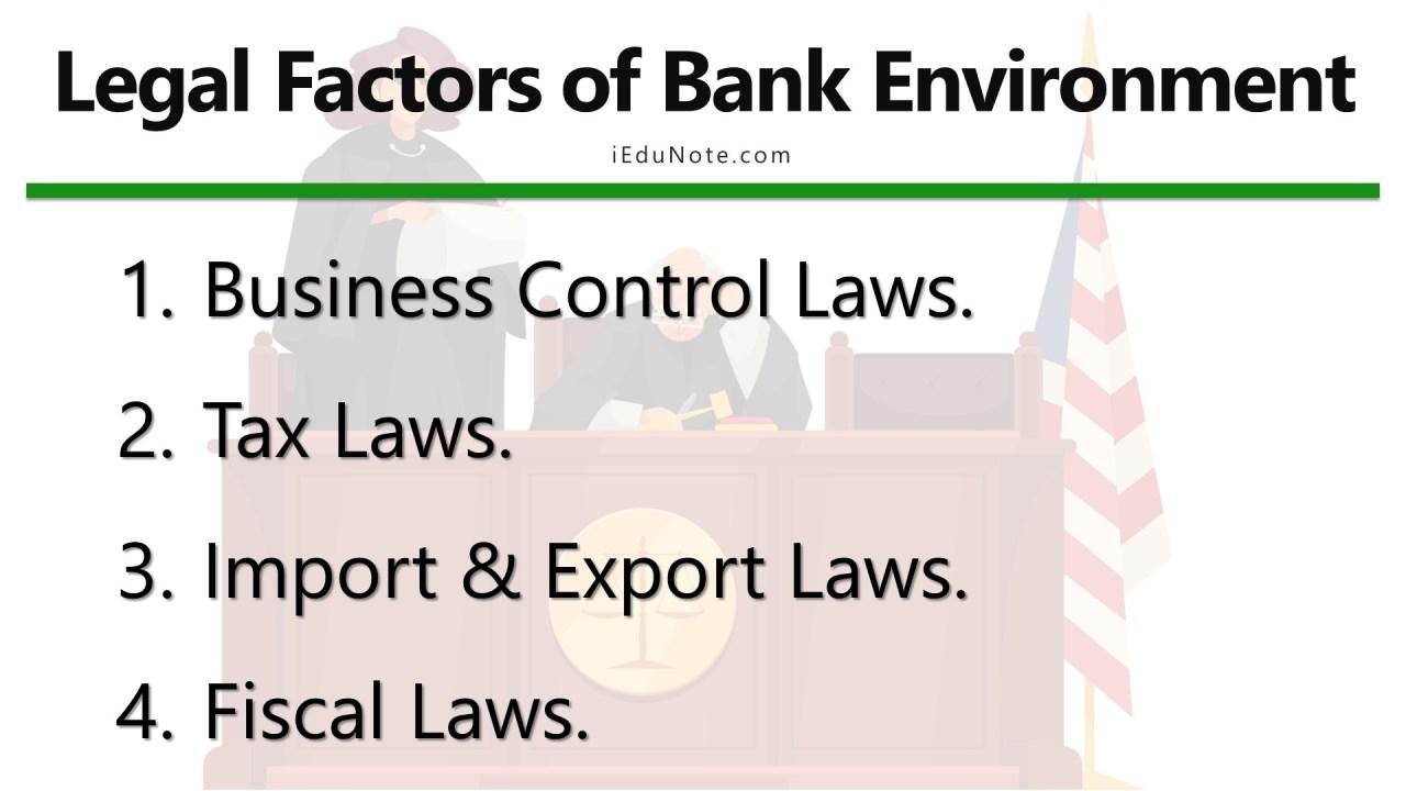 legal factors of bank environment