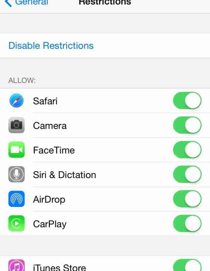 How to Enable and setup Parental controls on iPad, iPhone, iPod Touch