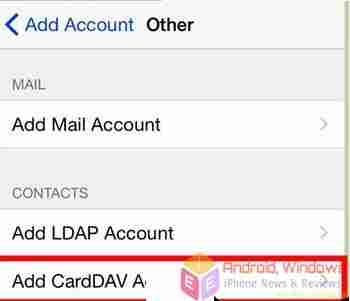 how to transfer contact from android to iphone