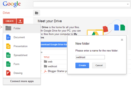 How to add files to google drive from PC
