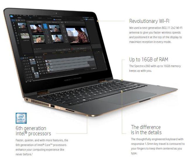HP Spectre x360 Performance