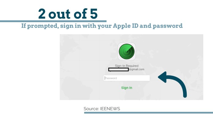 sign in with your Apple ID: How to Bypass iPhone 4 passcode Using iCloud