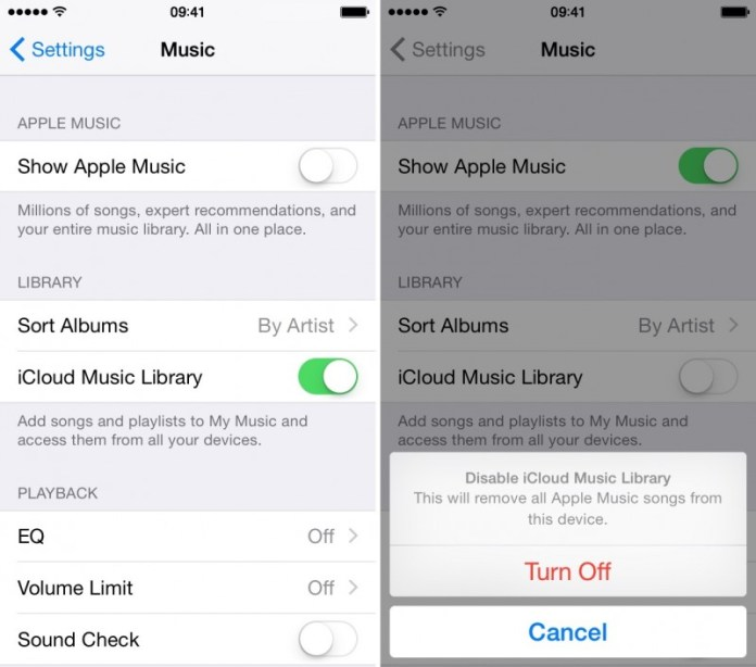 """select iCould Music Library. Click on the iTunes menu and pull down to and select """"Preferences"""". Turn off iCloud Music Library or Disable iCloud Music Library On Winodws PC: Disable iCloud Music Library Using iTunes"""