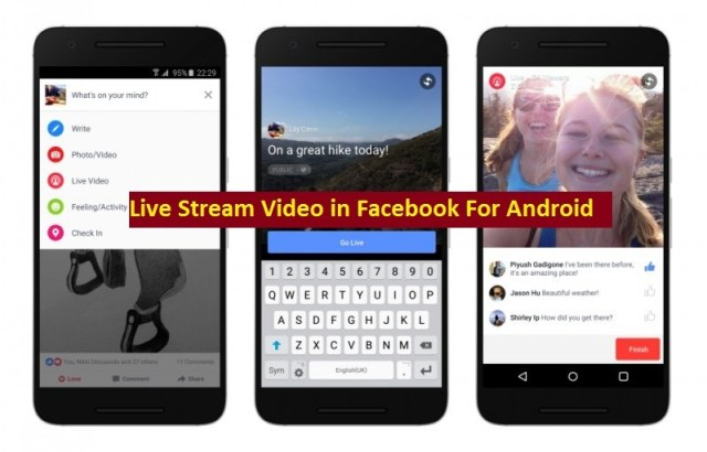 For Android: how do you do live videos on facebook how to post live video on facebook how to go live on facebook android