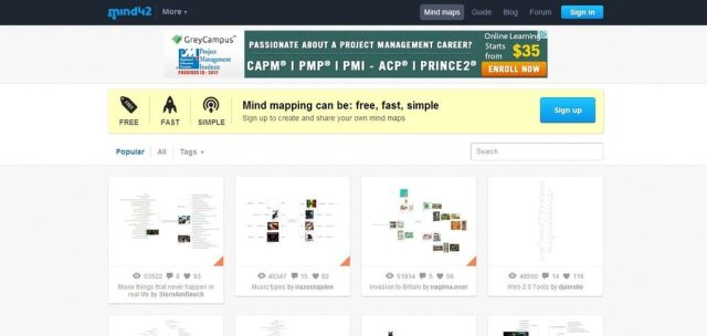 Mind42: Free online mind mapping software: Best free mind mapping software