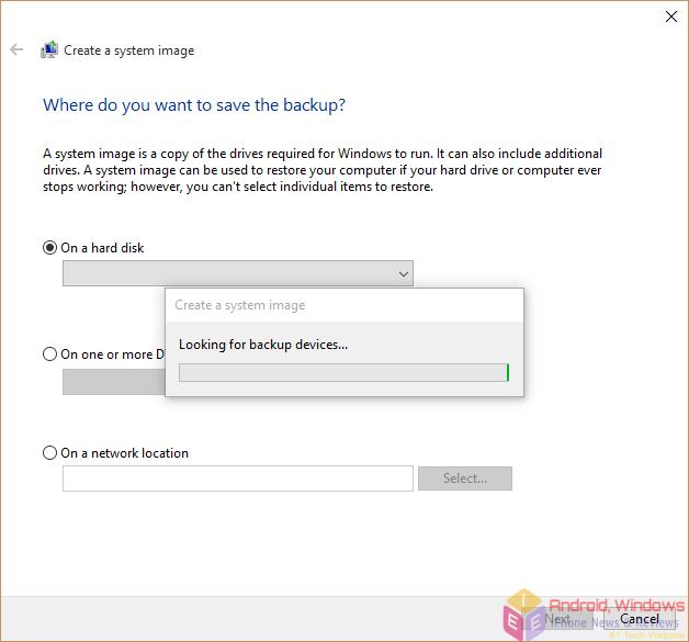 windows 8.1 make backup