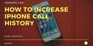 How to Increase iPhone Call History: iPhone call log history increase