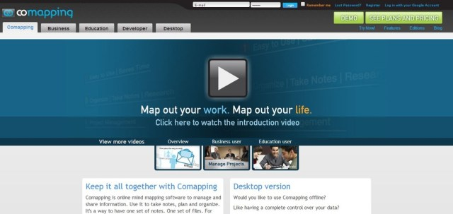 CoMapping:  Online mind mapping software to manage and share information
