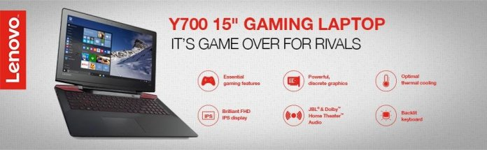 Lenovo IdeaPad Y700Best Windows 10 gaming laptops