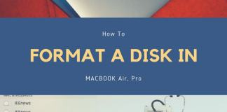 How to Format a Disk in MacBook Air and Mac OS Sierra or High Sierra