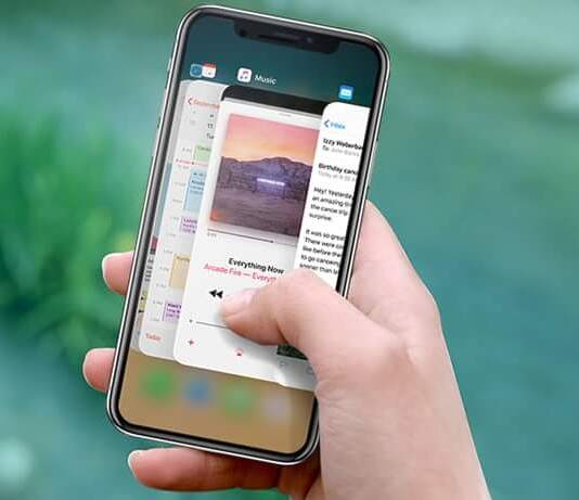 How to close applications on iPhone X