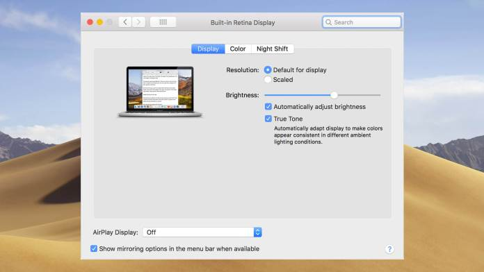How to Turn OFF/ON True Tone Display on MacBook Pro 2018