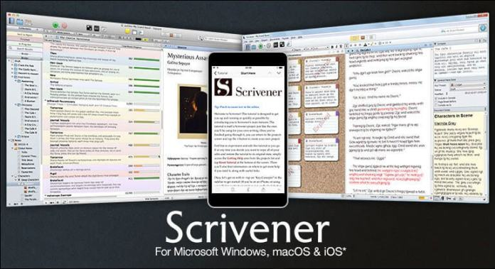 8 Scrivener- Best text editors for macOS, Windows, online, Android, iOS, Windows Phone