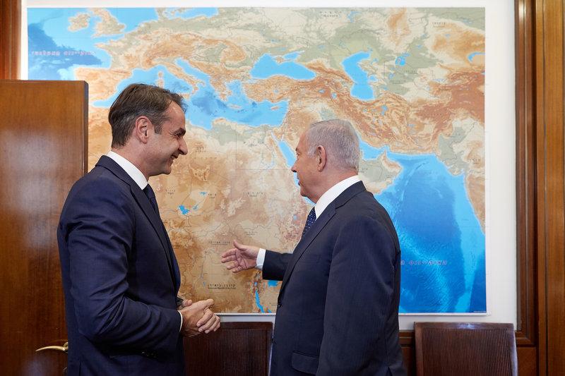 Ο πρόεδρος της ΝΔ και ο πρωθυπουργός του Ισραήλ -Φωτογραφίες: Intimenews/Γρ. Τύπου ΝΔ/ΠΑΠΑΜΗΤΣΟΣ ΔΗΜΗΤΡΗΣ