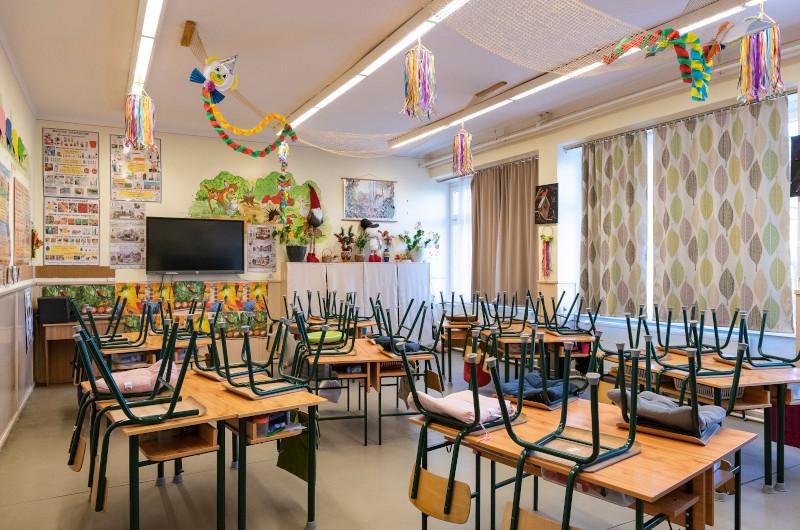 Κλειστό σχολείο στη βορειοανατολική Ουγγαρία.