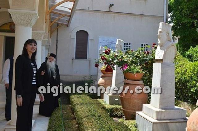 Η Ελενα Κουντουρά μαζί με τον Αμβρόσιο στην Μητρόπολη