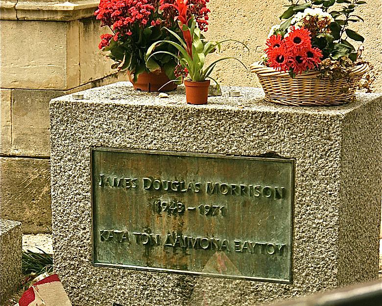Ο Τάφος, όπως είναι σήμερα, με την πλάκα όπου και αναγράφεται ΚΑΤΑ ΤΟΝ ΔΑΙΜΟΝΑ ΕΑΥΤΟΥ