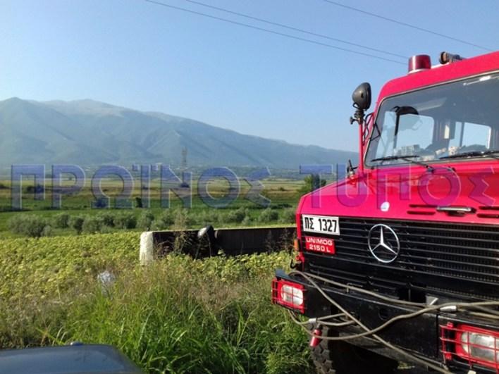 Το λεωφορείο του ΚΤΕΛ Δράμας ανετράπη στις 7 το πρωί- φωτογραφία Πρωινός Τύπος