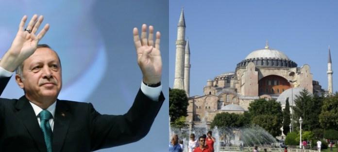 Απίστευτη πρόκληση Ερντογάν: Θα προσευχηθεί μoυσουλμανικά στην Αγιά Σοφιά την Μ. Παρασκευή