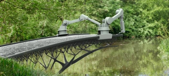 Συνέβη και αυτό: Ρομπότ τυπώνει τρισδιάστατη γέφυρα από ατσάλι