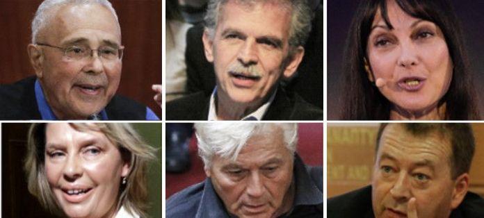 Από πάνω αριστερά: Ζουράρης, Δανέλλης, Κουντουρά. Από κάτω αριστερά: Παπακώστα, Παπαχριστόπουλος, Κόκκαλης