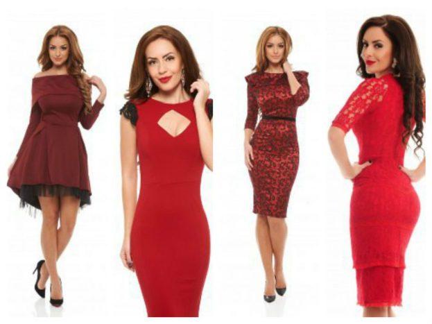 rochii rosii pentru Craciun si Revelion