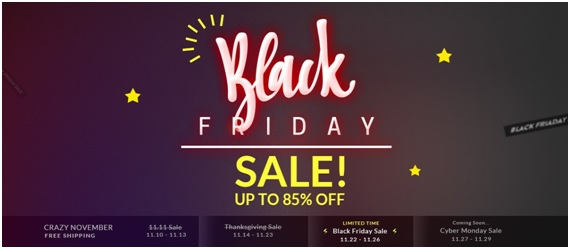 black friday sale up to 85% OFF