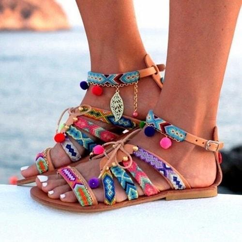 sandale stil boemian