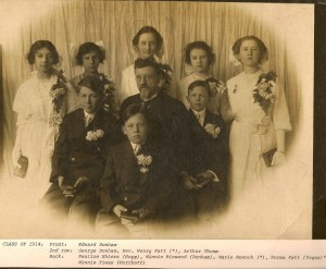 Pastor Henry Katt and the 1914 Confirmands