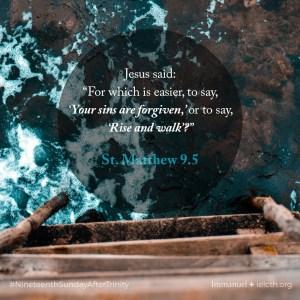 St. Matthew 9.5