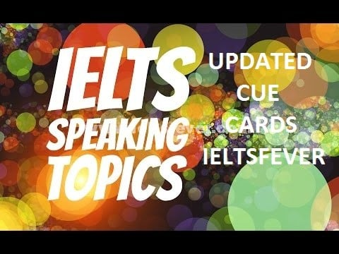 January to April 2017 cue card topics with answers updated