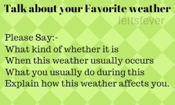Describe your favourite season IELTS EXAM