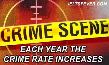 Each year the crime rate increases