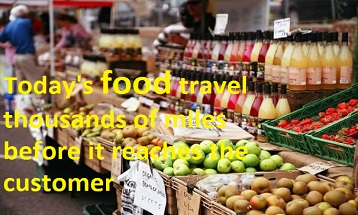 food travel thousands of miles before it reaches the customer