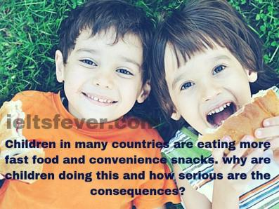 Children in many countries are eating more fast food and convenience