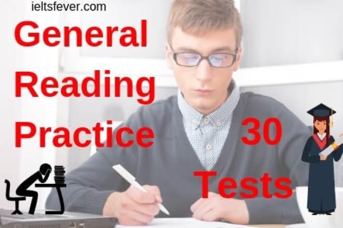 General reading practice test for ielts pdf 30 Tests