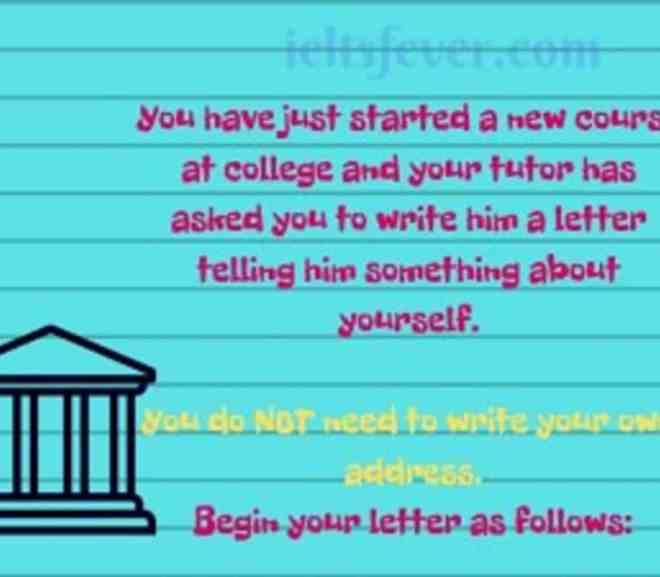 You have just started a new course at college and your tutor has asked you to write him a letter telling him something about yourself.