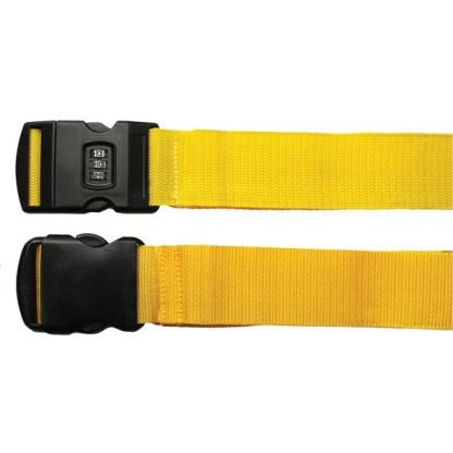 gele kofferriemen