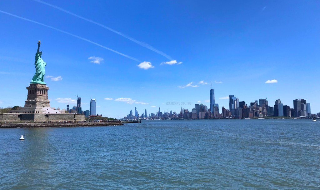 5 days in new york. Top things to do. New York skyline from liberty island