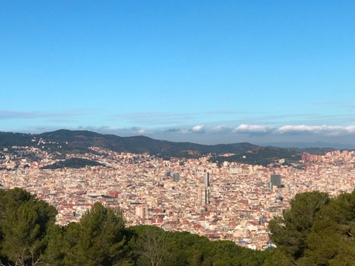 montjuic castle view