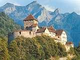 Zámek Vaduz na pohlednici