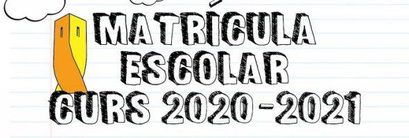 Matriculación Curso 2020-2021 (Plazo del 1 al 10 de Julio)