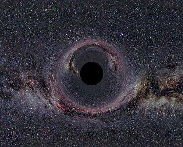 Imagen de un agujero negro (representacion artistica)