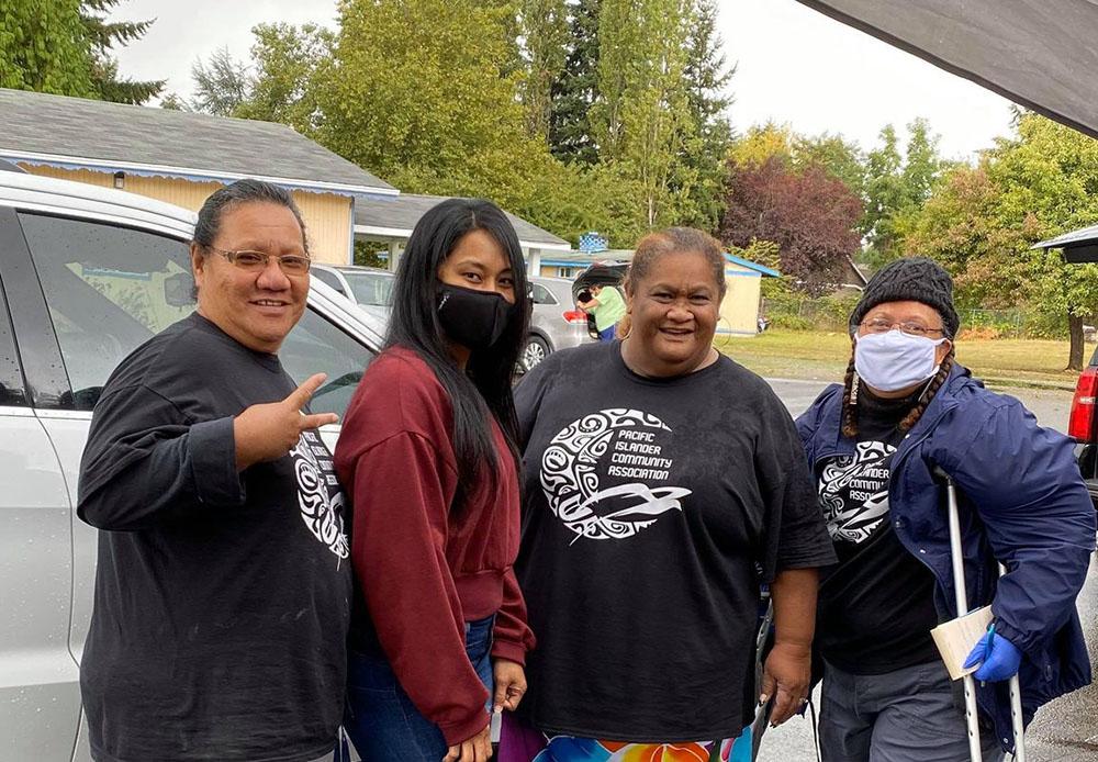 Pasifika work continues, even in the rain