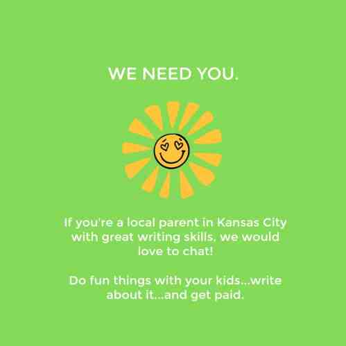 Are You a KC Parent? Content Contributor Positions Are Open!
