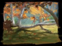 Autumn Leaves digital color study