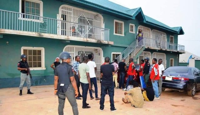Images of suspected yahoo boys arrested at Ibadan by the EFCC