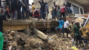 Lagos Nigeria collapsed building images