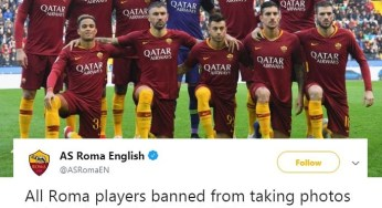 Fc Roma players banned from from taking pictures with Drake.